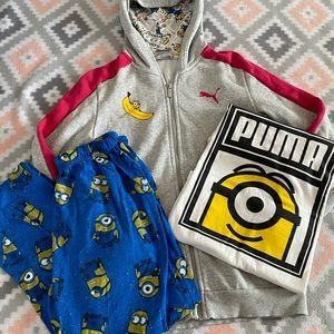 Puma Minion Jacket T Shirt PJ Pants